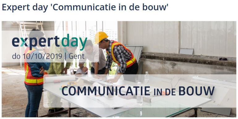 Expert day 'Communicatie in de Bouw' in Gent - 10-10-2019 - Pixii